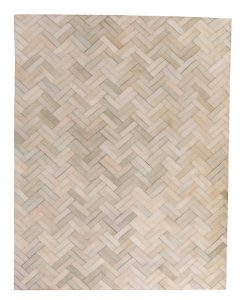 Patchwork Leather/Cowhide Rug 11P4143 140x200cm 1