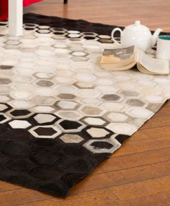 Patchwork Leather/Cowhide Rug 12P5020 120x180cm 2