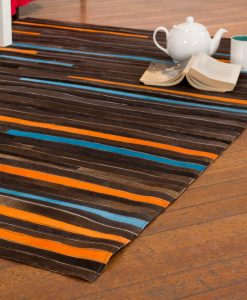 Patchwork Leather/Cowhide Rug 12P5088 120x180cm 2