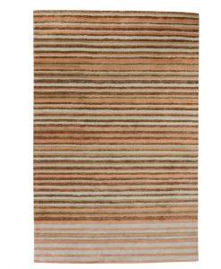 Stripe Rug Wool Jute Bamboo 160x230cm Eat Cake 1