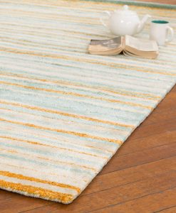 Stripe Rug Wool Jute Bamboo 160x230cm Giant Goldfish 2