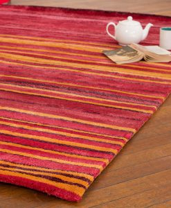 Stripe Rug Wool Jute Bamboo 160x230cm Hot Sun 2