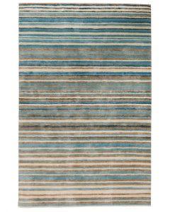 Stripe Rug Wool Jute Bamboo 130x190cm Nautical 1