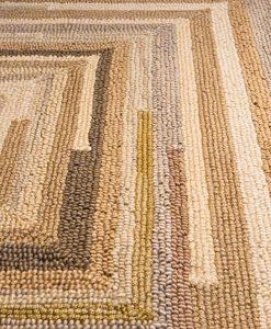 Square Spiral Loop Weave Rug Natural 110×170 1