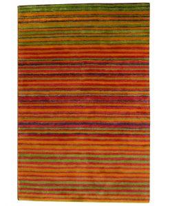 Stripe Rug Wool Jute Bamboo 130x190cm Sugar 1