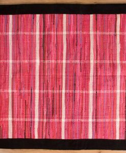 Trasmatta Hosiery Pink Black Suede Trim 170x110cm 1