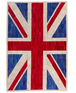 Patchwork Leather/Cowhide Rug UNIONJACKCOLOUR 120x200cm 1