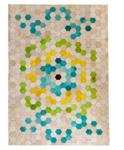 Patchwork Leather/Cowhide Rug 11P4139 120x180cm 1