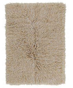 Beige White Mix Flokati Rug 2800g/m2 110x170cm 1