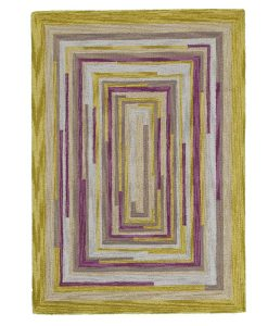 Square Spiral Loop Weave Rug DESERT LIFE 140×200 1