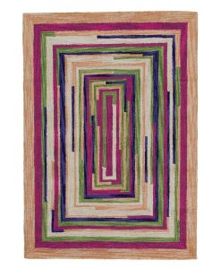 Square Spiral Loop Weave Rug VENICE 110×170 1