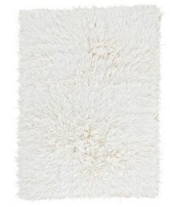 Natural Flokati Rug 2800g/m2 130cm Square 1